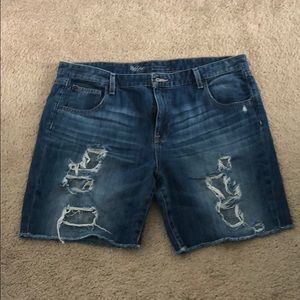 Mossimo Boyfriend Denim Shorts